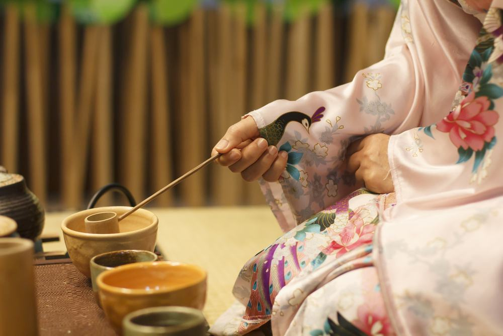 Japanese tea ceremony in Osaka (casual clothes)