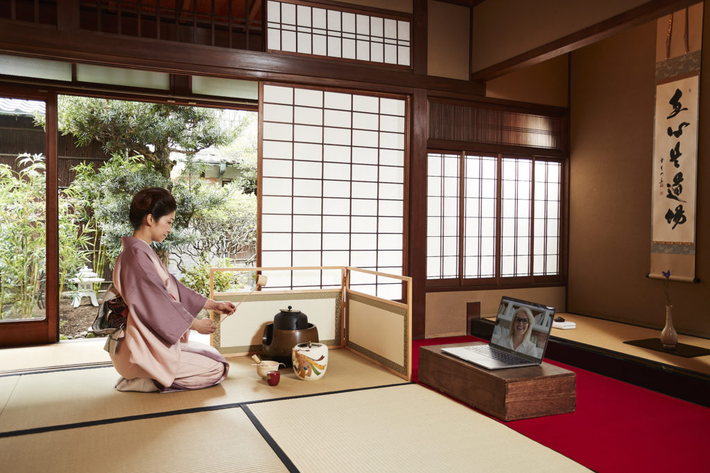 Virtual tea ceremony for teams and groups via ZOOM