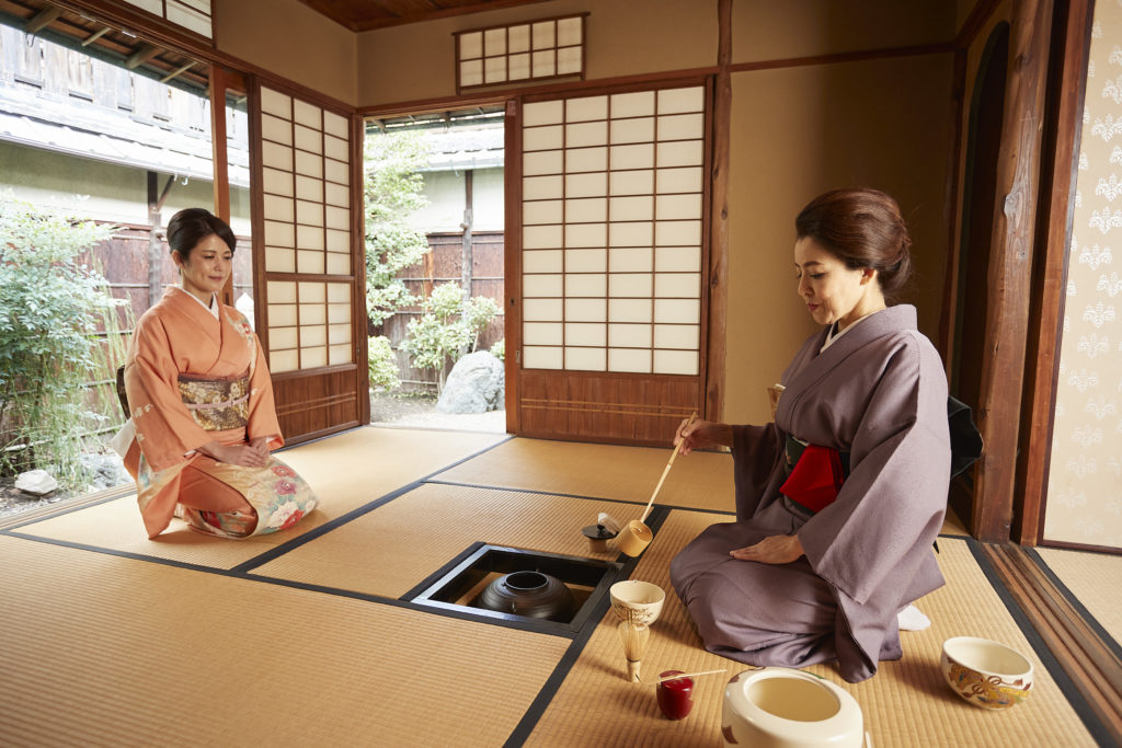 PRIVATE Kimono Tea Ceremony in Kyoto Gion Shijo Station