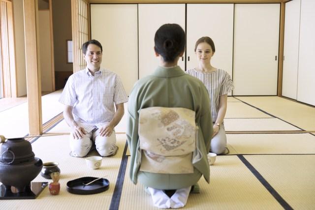京都マイコヤで茶道体験(私服)