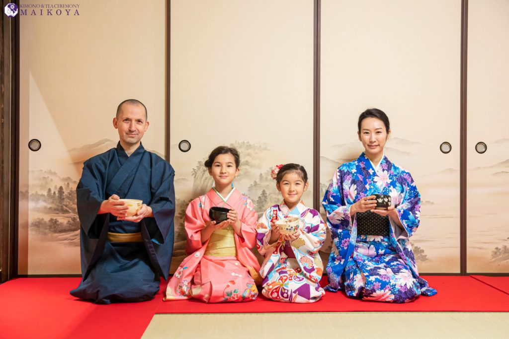 Tea Ceremony and Kimono for Kids and Families in Tokyo
