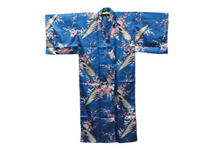 Authentic Japanese Cool Summer Yukata; Peacock