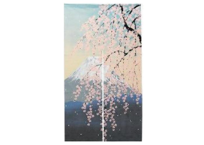 Japanese Noren Curtain: Mount Fuji