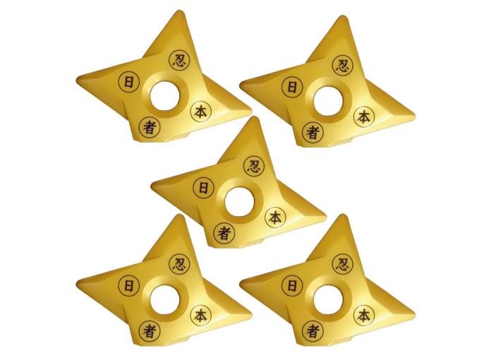 Samurai market Set of 5 Golden Magnets Ninja Holder Magnet