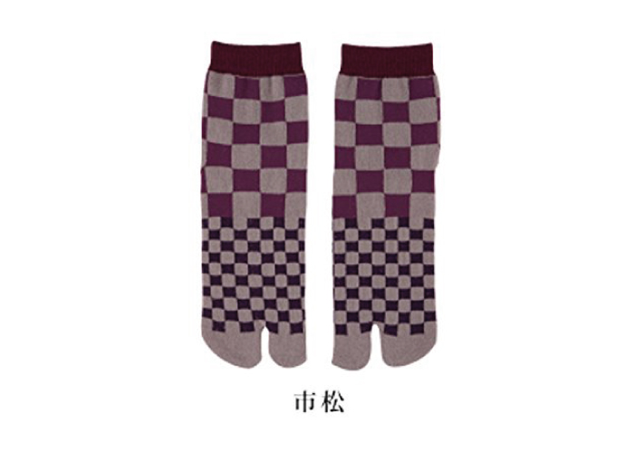 Authentic Japanese Tabi Socks: Checkers