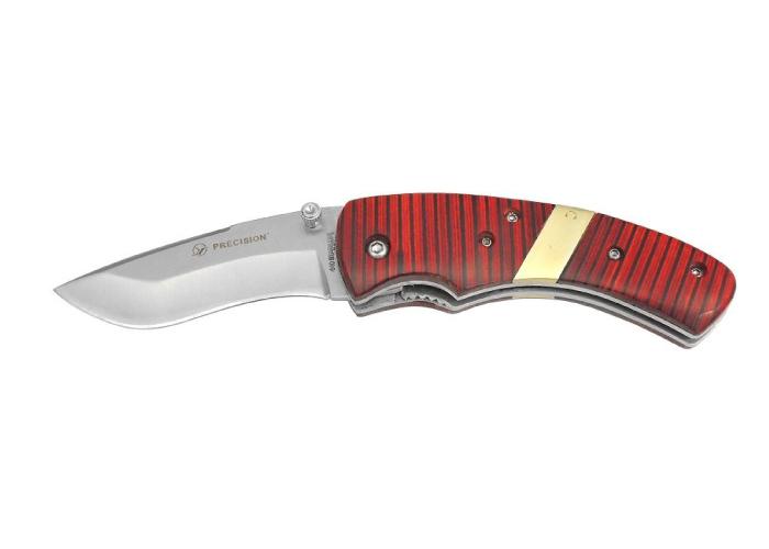 Bulldog Folding Pocket Knife: Red Stripe