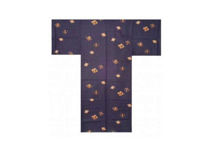 Authentic Japanese Samurai Yukata / Fresh & Cool Kimono- Diamond Pattern #908