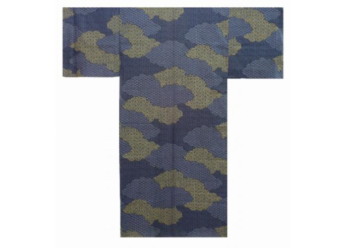 Authentic Japanese Samurai Yukata / Fresh & Cool Kimono- Cloud Pattern #955