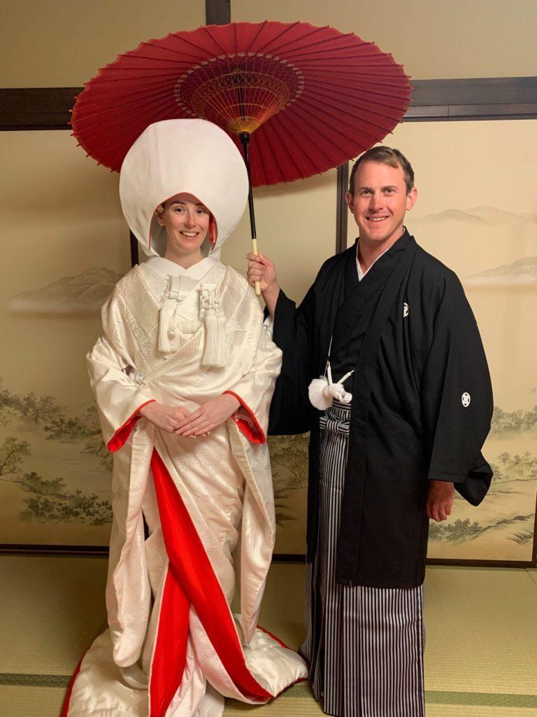 Honeymoon in Kyoto Japanese Wedding Dress and Photo Shoot