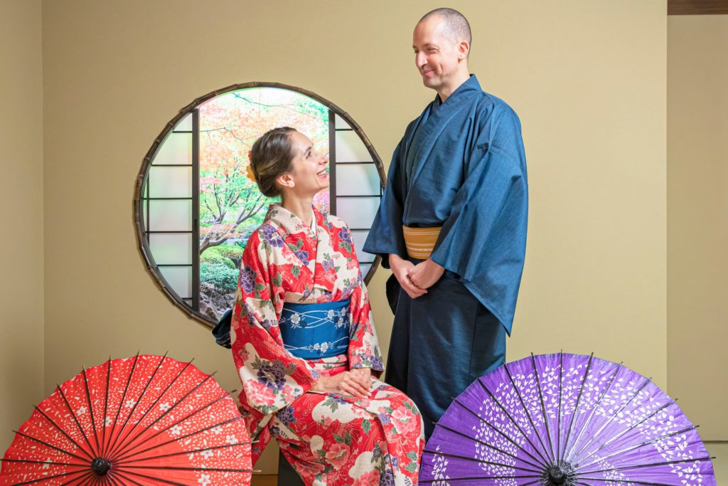 Professional Kimono photo shoot + printed photo in a frame in Kyoto