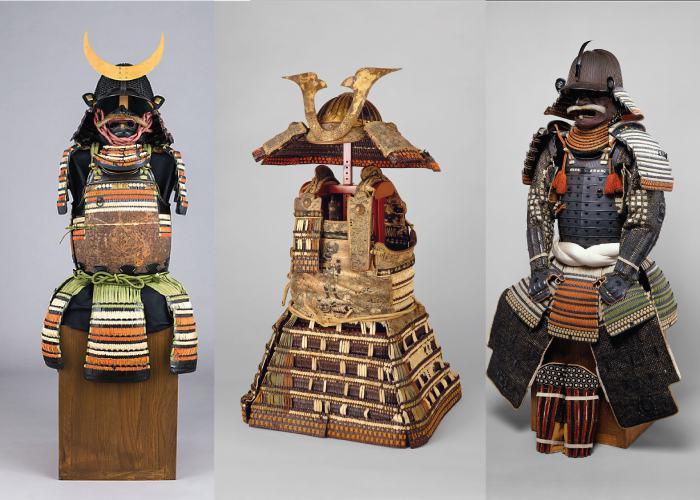 Samurai armors displayed at the metropolitan museum