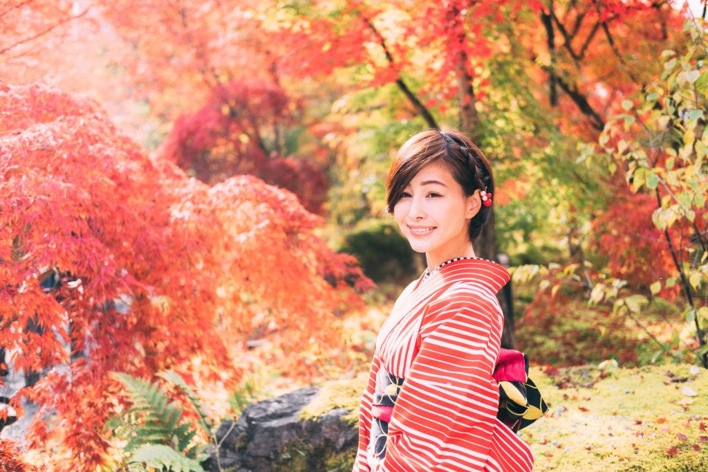 Kimono rental in Kyoto the full memorable set